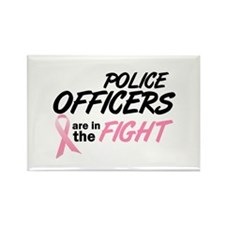Police Officers In The Fight Rectangle Magnet