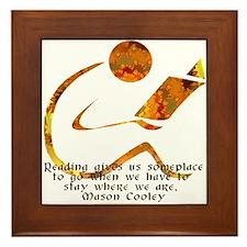 Reader - Golden Quote Framed Tile