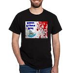 Shark Attacks Bite! Survivor? Dark T-Shirt