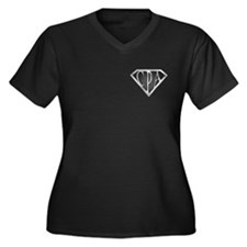 Super CPA - Metal Women's Plus Size V-Neck Dark T-