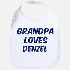 Grandpa loves Denzel Bib