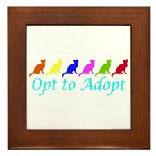 Rainbow Opt to Adopt Framed Tile