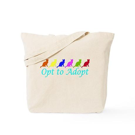 Rainbow Opt to Adopt Tote Bag