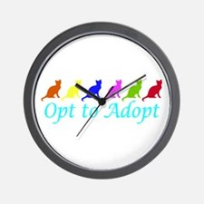 Rainbow Opt to Adopt Wall Clock