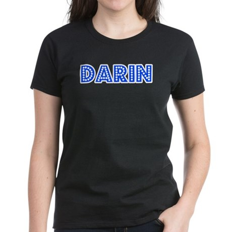 Retro Darin (Blue) Women's Dark T-Shirt