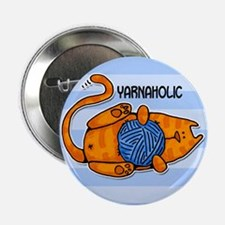"""yarnaholic 2.25"""" Button"""