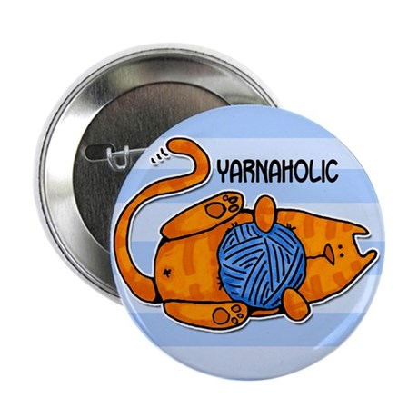 """yarnaholic 2.25"""" Button (10 pack)"""