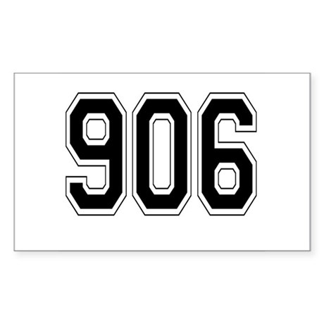 906 Rectangle Sticker
