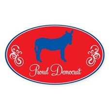 Proud Liberal Donkey Oval Decal