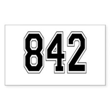 842 Rectangle Decal