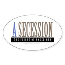 A SECESSION Oval Decal