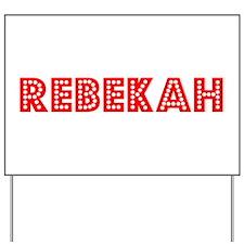 Retro Rebekah (Red) Yard Sign