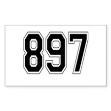 897 Rectangle Decal