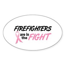 Firefighters In The Fight Oval Decal