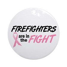 Firefighters In The Fight Ornament (Round)