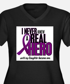 Never Knew A Hero 2 Purple (Daughter) Plus Size T-