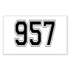 957 Rectangle Decal