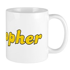 Retro Cristopher (Gold) Mug