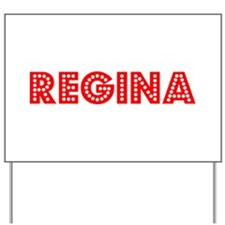 Retro Regina (Red) Yard Sign