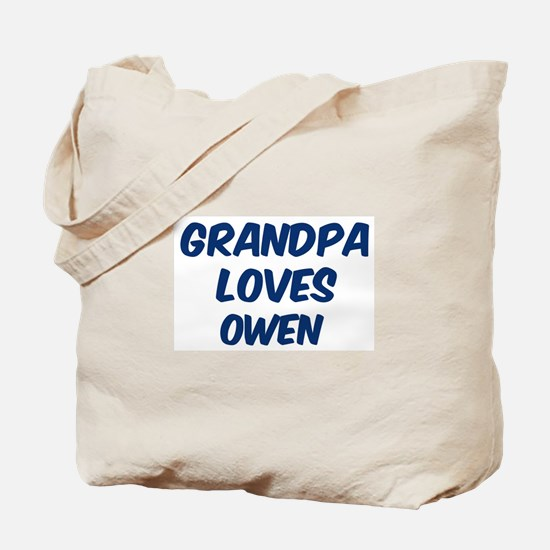 Grandpa loves Owen Tote Bag