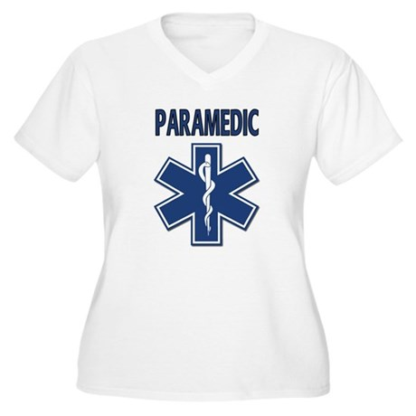 Paramedic EMS Women's Plus Size V-Neck T-Shirt