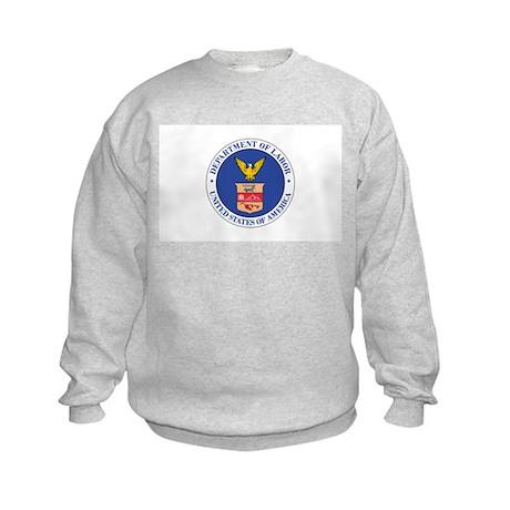 DEPARTMENT-OF-LABOR-SEAL Kids Sweatshirt