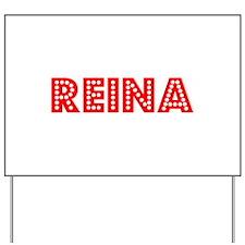 Retro Reina (Red) Yard Sign