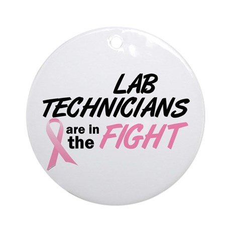Lab Technicians In The Fight Ornament (Round)