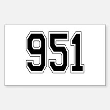 951 Rectangle Decal