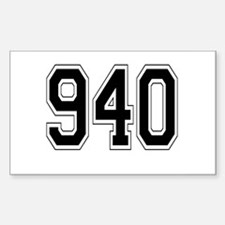 940 Rectangle Decal