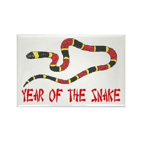 Year of the Snake Rectangle Magnet (100 pack)
