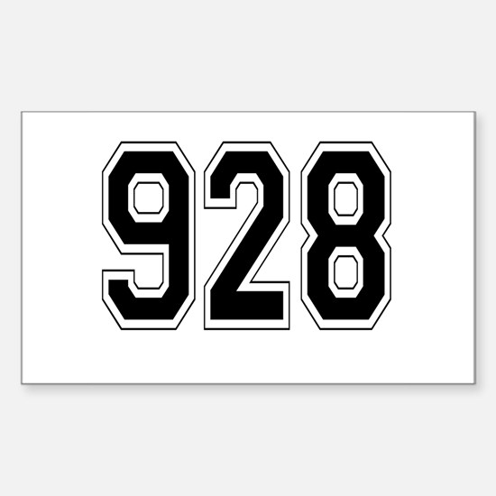 928 Rectangle Decal