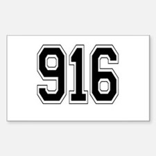 916 Rectangle Decal
