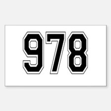 978 Rectangle Decal
