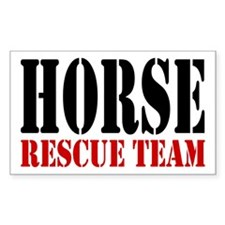 Horse Rescue Team Rectangle Decal