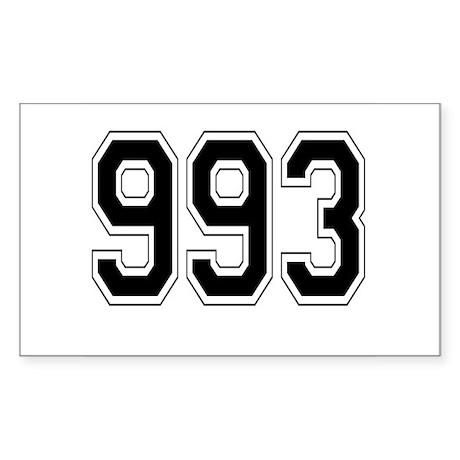 993 Rectangle Sticker