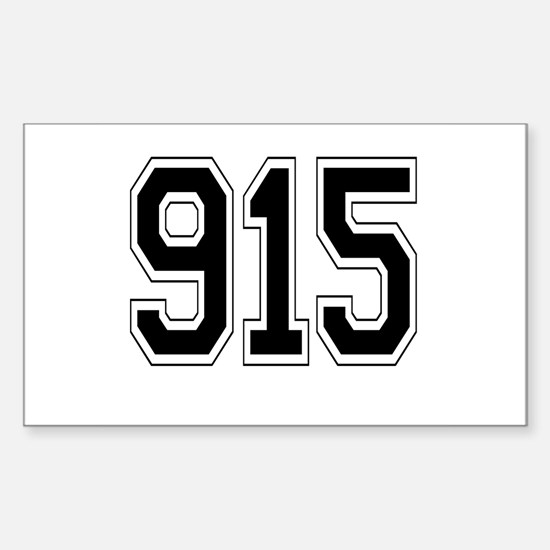 915 Rectangle Decal