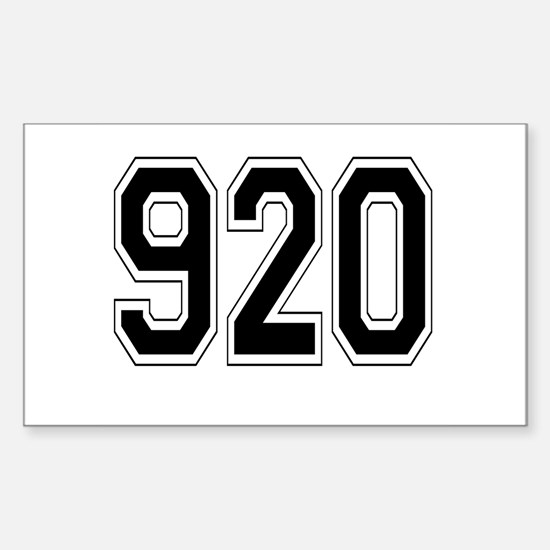 920 Rectangle Decal