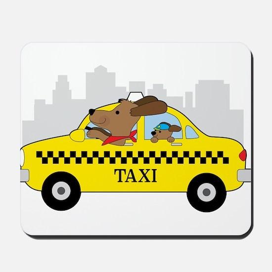 New York Taxi Dog Mousepad