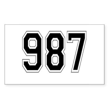 987 Rectangle Sticker