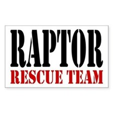 Raptor Rescue Team Rectangle Decal