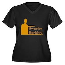 swarles Women's Plus Size V-Neck Dark T-Shirt
