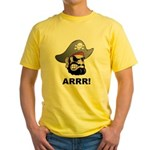 Arr Pirate Yellow T-Shirt