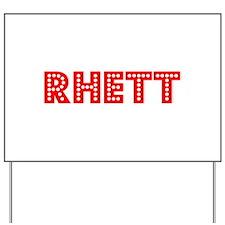 Retro Rhett (Red) Yard Sign