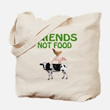 Funny Cows are friends not food Tote Bag