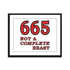 665-beast Framed Panel Print