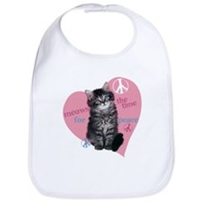 Meows the time for Peace Bib
