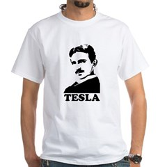 Tesla White T-Shirt