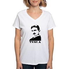 Tesla Women's V-Neck T-Shirt