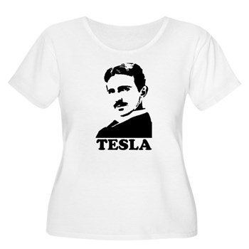 Tesla Women's Plus Size Scoop Neck T-Shirt | Gifts For A Geek | Geek T-Shirts